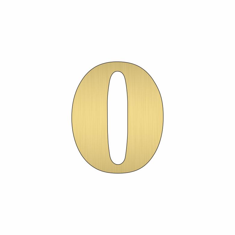 Цифра 0 - златна