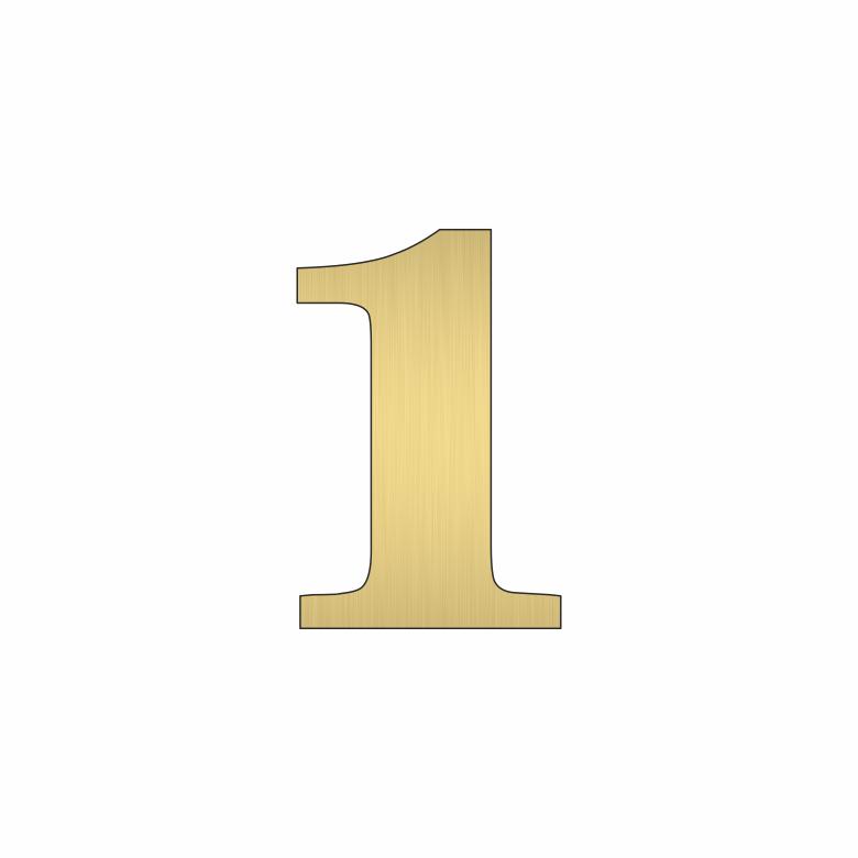 Цифра 1 - златна