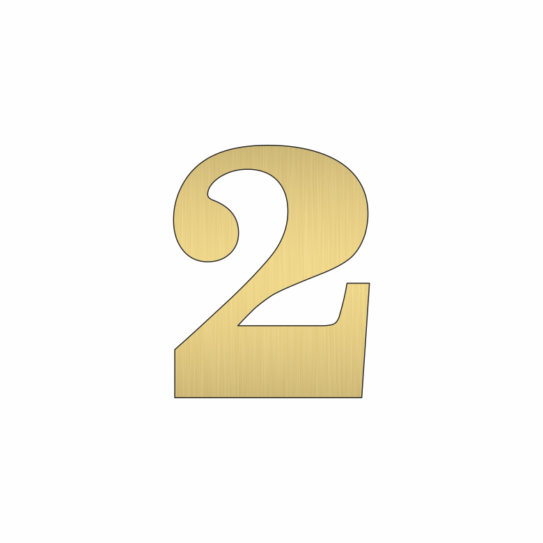 Цифра 2 - златна