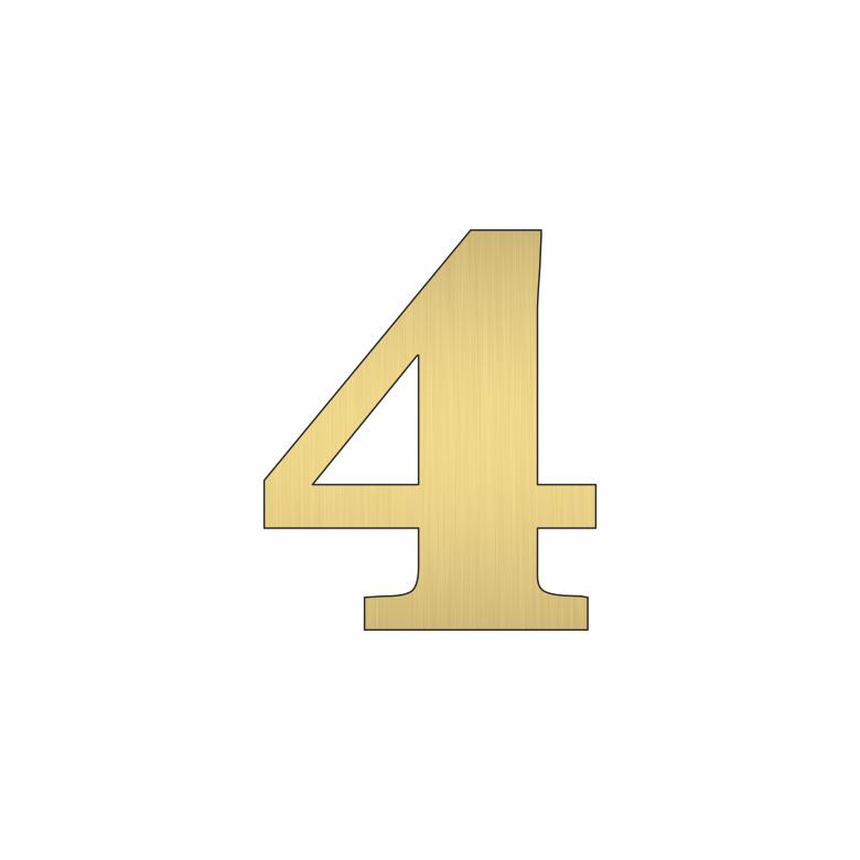 Цифра 4 - златна