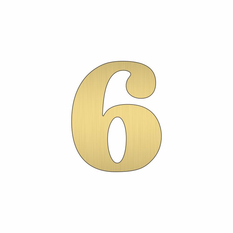 Цифра 6 - златна