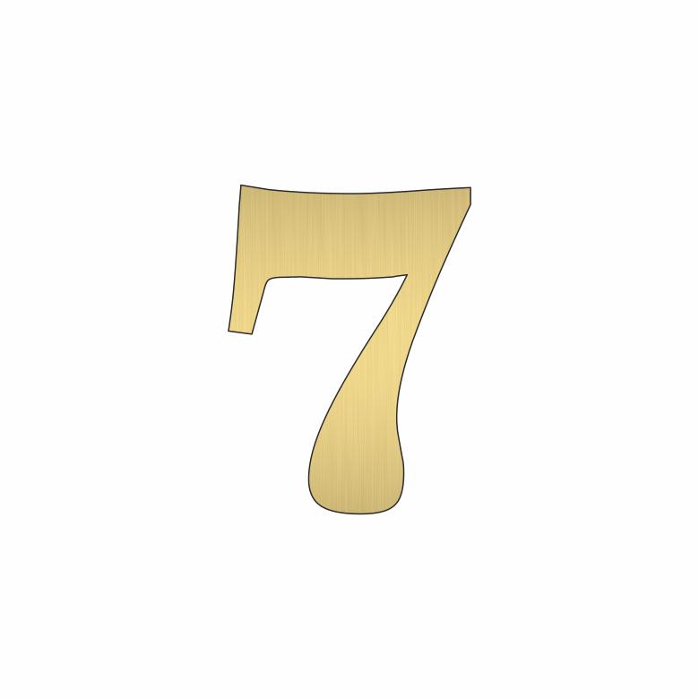 Цифра 7 - златна