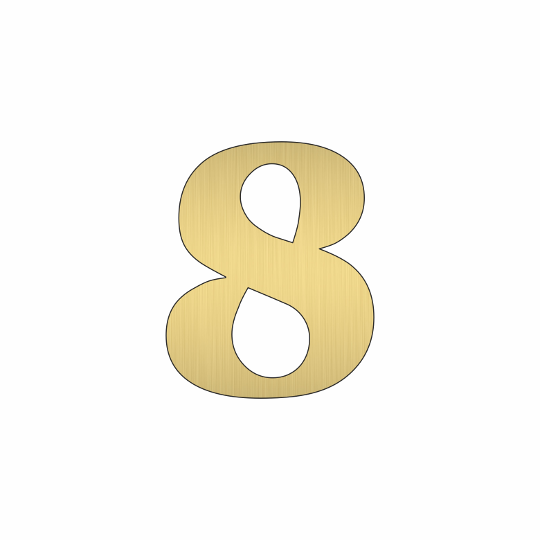 Цифра 8 - златна