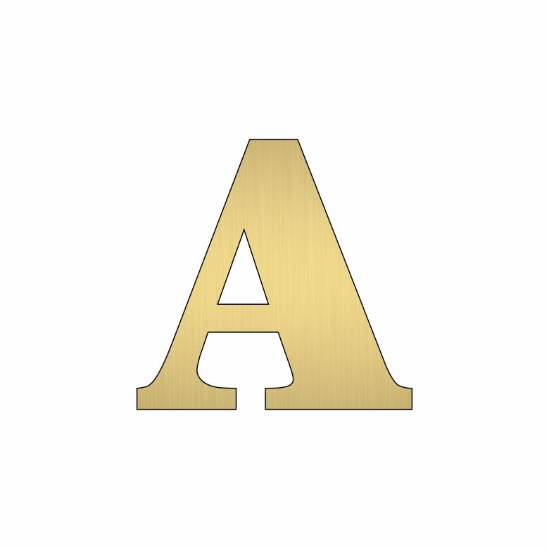 Буква А - златна