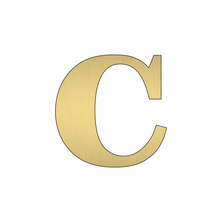 Буква C - златна