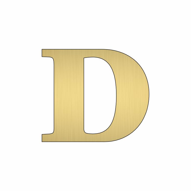 Буква D - златна