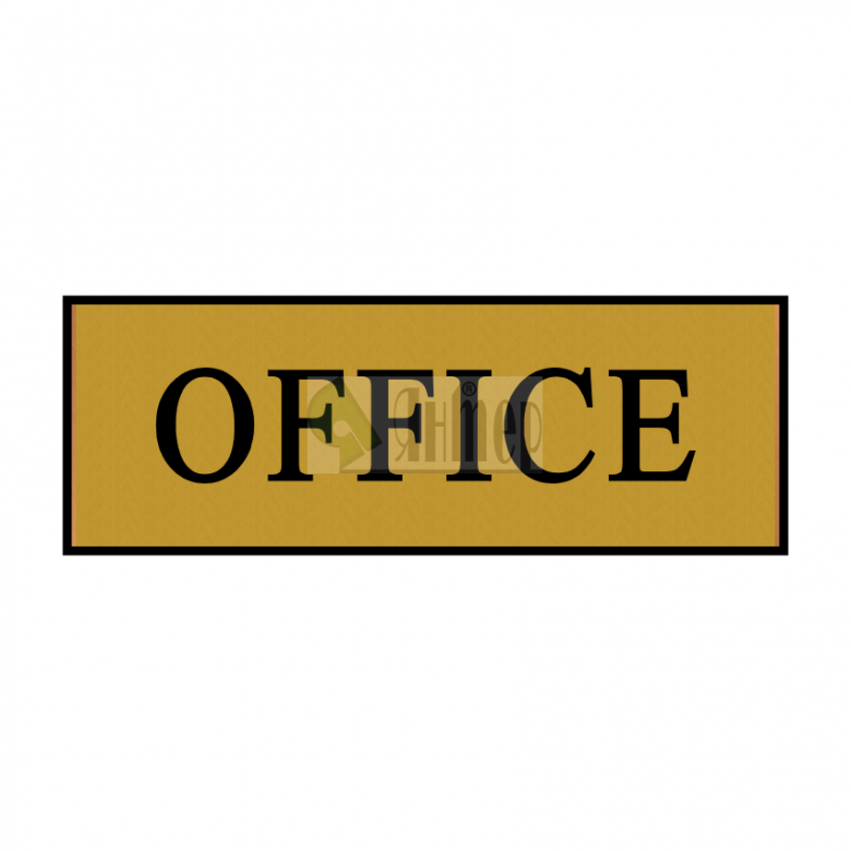 Office правоъгълно медно